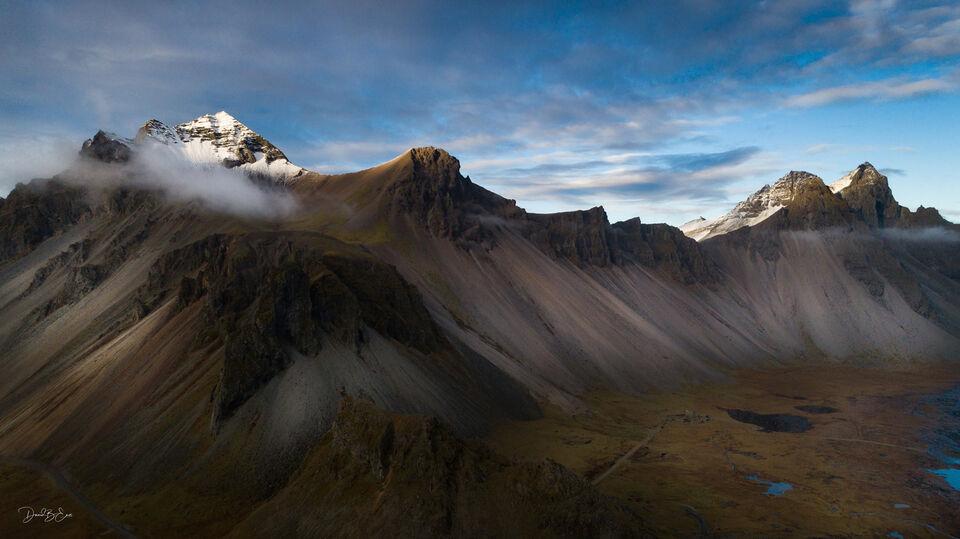 Iceland Mountain Range print